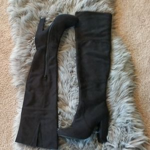 Bellini over knee boots sz 8 fur lined.ex cond.